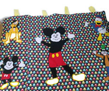 Disney Mickey Mouse Donald Pluto Goofy Nursery Baby Window Wall Panel Hand Sewn