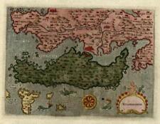 Euboea Negroponte Greece Ionian Sea Porcacchi 1620 sea monsters map