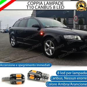COPPIA LAMPADE FRECCE LED LATERALI AUDI A4 B7 T10 CANBUS NO ERRORE