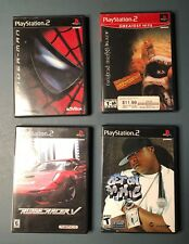 Lot of (4) PS2 Playstation Games CIB Complete Twisted Metal - Spider-Man - Ridge