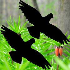 2 Aufkleber 35cm schwarz Vogel Habicht Warnvogel Fenster Schutzfolie Dekofolie