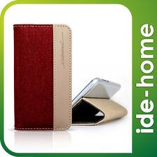 """EVOUNI Fashion Wallet Leather Case - iPhone 6 / 6S (4.7"""") - Twilled Denim Red"""