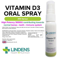 Vitamin D Spray 3000IU - 30ml (200 sprays)  Bones, Teeth Natural Mint Flavor