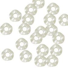 400 Imitation Pearl 13mm Wavy Donut Acrylic Beads Bead Approx 1/2 Inch