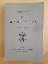 Oeuvres De Blaise Pascal. Tome Premier. Provinciales : 1ère à 8ème lettre