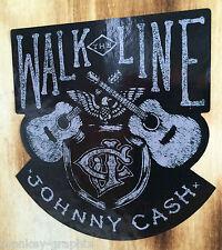 Walk the Line Oldschool / Vintage Aufkleber Cash / Rockabilly Rock n Roll USA