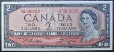 BANK OF CANADA 1954 - $2 BANK NOTE - Prefix A/R - Signed Beattie & Coyne