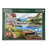 The Boating Lake Jigsaw Puzzle 1000 Falcon Row Boats Family Country Fun Day Out