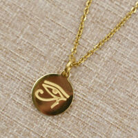 Women Men Egypt Eye of Horus Necklace Pendant Charm Amulet Gold Chain Jewelry