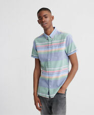 Superdry Mens Classic East Coast Oxford Short Sleeved Shirt