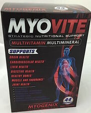 Myogenix MYOVITE Multivitamin Multi mineral Whole Body Health Support 44 Packs