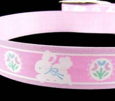 "10 Yards Easter Sweet Baby Bunny Pink Acetate Ribbon 1 1/4""W"