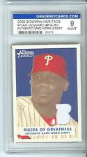 2006 Bowman Heritage Ryan Howard Graded Game Used Mint