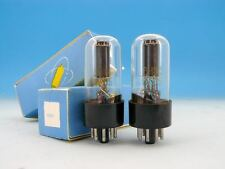 2x 6N8S 6Н8С ELECTRICALLY MATCHED NIB 80's <STRONG> PAIR TUBES 6SN7