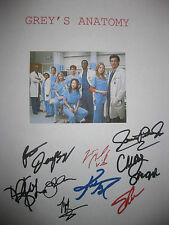Grey's Anatomy Signed TV Pilot Script Dempsey OH Katherine Heigl Knight reprint