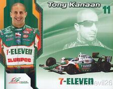 2008 Tony Kanaan 7-Eleven Honda Indy Car postcard