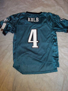 KEVIN KOLB #4 YOUTH NFL PHILADELPHIA EAGLES NFL REPLICA REEBOK JERSEY FREE SHIP!