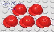 NEW Lego City Lot/5 Minifig RED HARD HAT Construction Worker Cap Head Helmet