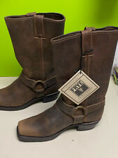 NWT new Frye harness leather brown boots 9 M women's 77300