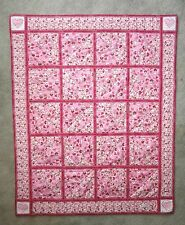 PIECED~PATCHWORK HEARTS OF LOVE BABY GIRL QUILT