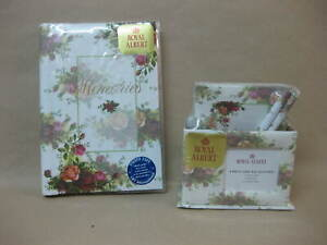 Royal Albert Old Country Roses Gift Set Note Pad 2 Pencils Framed Box Photo Safe