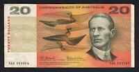 Australia R-401F.  (1966) Coombs/Wilson - Twenty Dollars.  XAA  1st Prefix. aVF