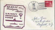 1966 Gemini 11 Navy Recovery Ship USS O'Bannon DD450 aba