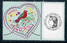"""TIMBRE PERSONNALISE N°3748A** / St Valentin Coeur Cacharel Logo """"CERES COTE 6 €"""