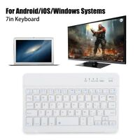 7in  Feet Wireless Ultra Slim Bluetooth Keyboard Type for Android/IOS/Windows SM