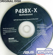 ASUS GENUINE VINTAGE ORIGINAL DISK FOR P4S8X-X series Motherboard Disk M285