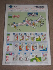 AIRTOURS MD83 SAFETY CARD DECEMBER 1993 - MINT CONDITION