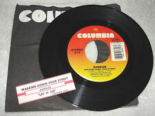 """Bangles """"Walking Down Your Street / Let It Go"""" 45 RPM, 7"""", 1986, VG+, +Jukebox"""