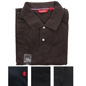 IZOD Men's Short Sleeve Regular Fit Pique Golf Polo Uniform Shirt Black Brown