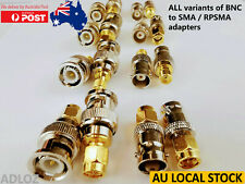 8x Variants BNC to SMA RPSMA Male to Female Adapter Converter Connector RP J K