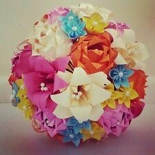 Papel Origami Boda Ramo De Flores Rosas Stargazer Lily Margarita Flores De Papel