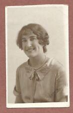 "Smiling Lady  ""Gloria""  1927  Jerome RP  Portrait  Satin blouse, collar    AH383"