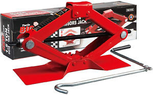 Big Red T10152 Torin Steel Scissor Lift Jack Car Kit, 1.5 Ton (3,000 lb) Red