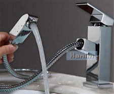 SQUARE BATHROOM BASIN PULL OUT OVERHEAD SHOWER SPRAY WASH FOR HAIR WASHING TAP