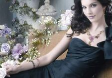 Vintage gold plated flower and butterfly pendant necklace/earrings set US SELLER