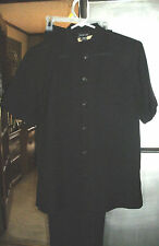 LESLIE FAY SIZE 10 P   BLACK  PANTSUIT**JUST BACK FROM CLEANERS