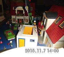 Playmobil 3x Wohnhaus 4279, Zusatzetagen Licht 2x Garage Wintergarten Kran uvm.