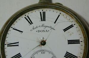 Huge Pocket Watch DOXA Anti-Magnetique 67 mm. Swiss №1354068