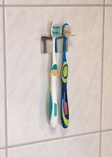 Edelstahlhalter Zahnbürstenhalter 2er auch für Aufsätze elektischer Zahnbürsten