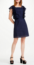Somerset by Alice Temperley Broderie Womens Dress Navy 16, 18 , 14 RRP £160 (A2)