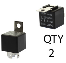(2) - 12V 40/30A 5-pin RELAY SPDT Car HID RELAY AUTO Truck 5-prong OEM 30 40 Amp