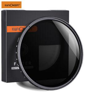 K&F Concept Variable ND Neutral Density Filter Adjustable Fader ND2- ND400 Slim