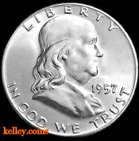 1957 Franklin Silver Half Dollar BU
