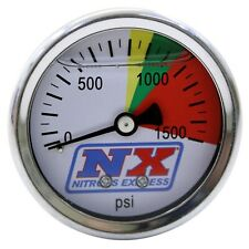 Nitrous Express 15508 Nitrous Pressure Gauge with Liquid Filled - 0-1500 psi