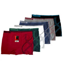 6pc Lot Men's Seamless Boxer Briefs Shorts Microfiber Underwear Knocker One Size