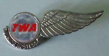 TWA Airlines 1950's Metal Kiddie Wings - Junior Hostess  -  silver